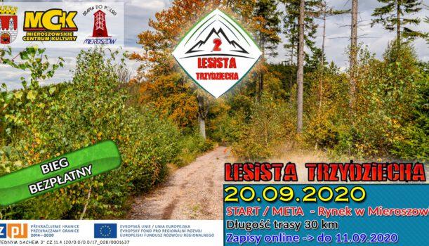 Zapraszamy na Bieg Górski Lesista Trzydziecha 2!