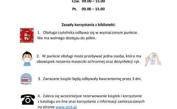 Zasady korzystania z Biblioteki w Mieroszowie
