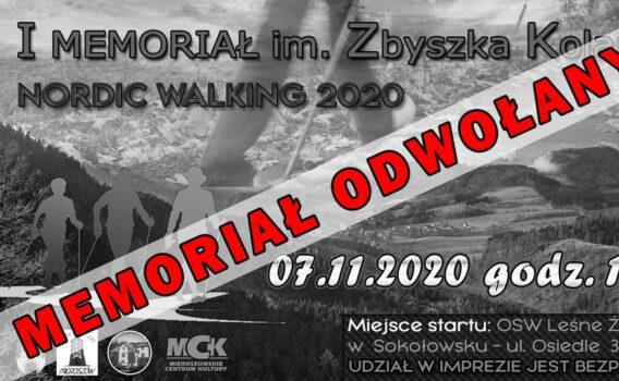 I Memoriał im. Zbyszka Kolanko ODWOŁANY!