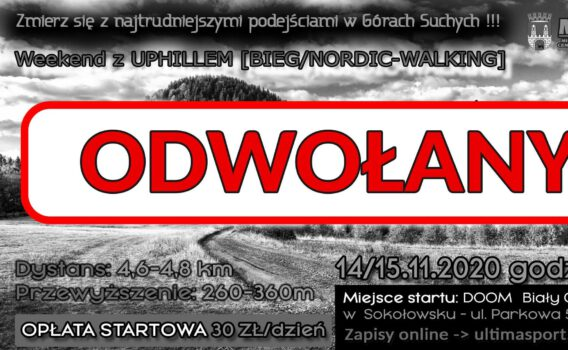 Weekend z UP-HILLEM ODWOŁANY!