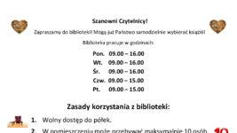 Zapraszamy Czytelników do biblioteki! 📚📚☺️☺️